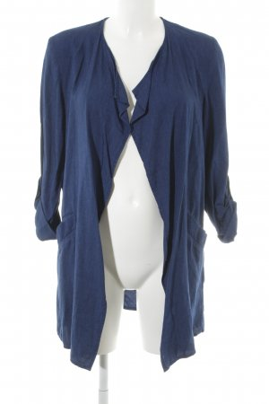 H&M Blusenjacke blau Jeans-Optik