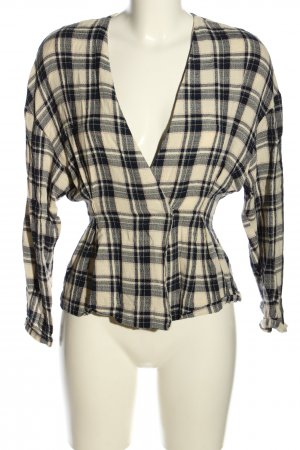 H&M Blouse Jacket cream-black allover print casual look