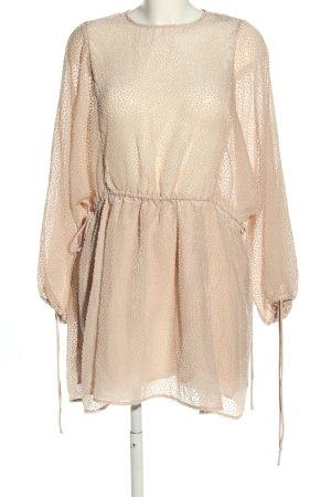 H&M Blusenkleid creme Punktemuster Casual-Look