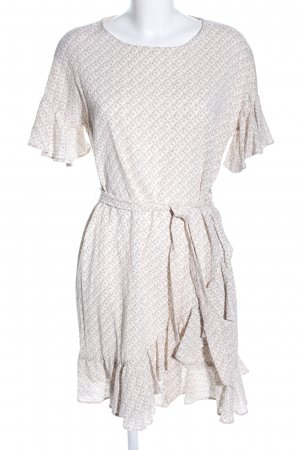 H&M Blouse Dress natural white-brown graphic pattern casual look