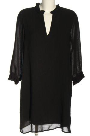 H&M Blusenkleid schwarz Business-Look