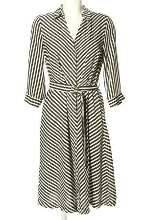 H&M Blusenkleid schwarz-weiß Streifenmuster Business-Look