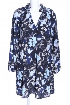 H&M Robe chemisier bleu-gris clair imprimé allover style décontracté