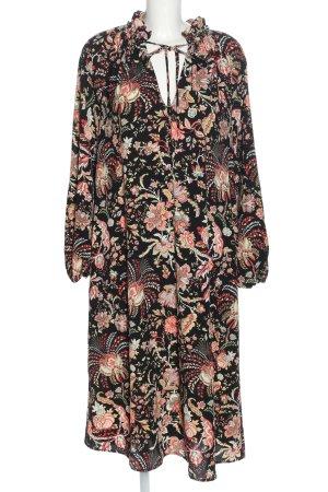 H&M Blusenkleid schwarz-rot Allover-Druck Elegant