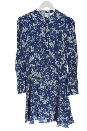 H&M Blusenkleid blau-hellgrau Allover-Druck Casual-Look