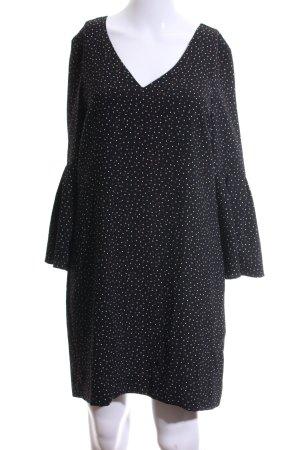 H&M Blusenkleid schwarz-weiß Punktemuster Casual-Look