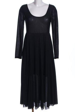 H&M Blusenkleid schwarz Party-Look