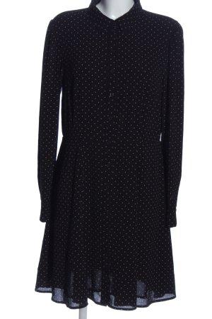 H&M Blusenkleid schwarz-creme Punktemuster Casual-Look