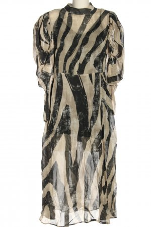 H&M Blusenkleid creme-schwarz Allover-Druck Elegant