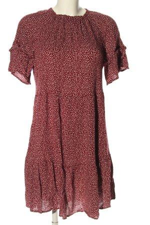H&M Blusenkleid rot-weiß Allover-Druck Casual-Look