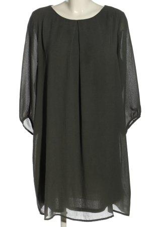 H&M Blusenkleid hellgrau Business-Look