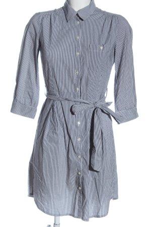 H&M Blusenkleid weiß-schwarz Streifenmuster Casual-Look
