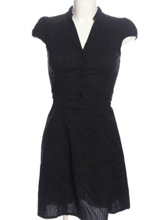 H&M Abito blusa nero motivo a righe stile casual