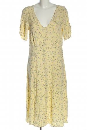 H&M Blusenkleid blassgelb Allover-Druck Casual-Look