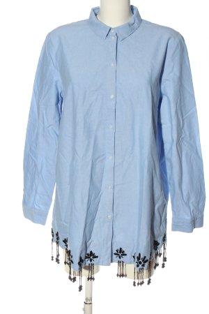 H&M Langarm-Bluse blau-schwarz Casual-Look