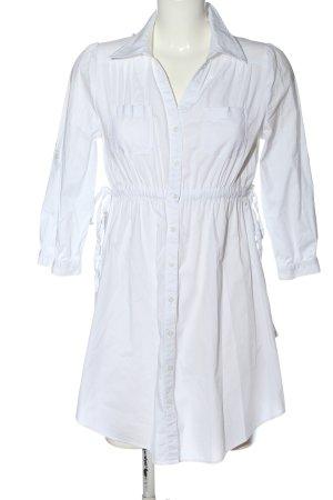 H&M Blusenkleid weiß Streifenmuster Casual-Look