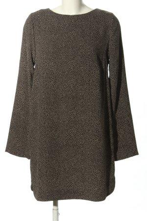 H&M Abito blusa marrone-bianco stampa integrale stile casual