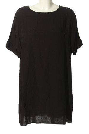 H&M Abito blusa nero stampa integrale stile casual