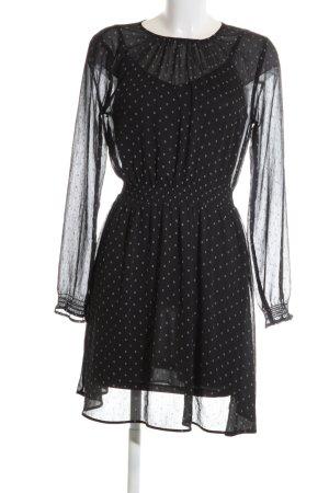 H&M Blusenkleid schwarz Allover-Druck Elegant
