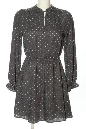 H&M Robe chemisier gris clair-blanc imprimé allover style d'affaires