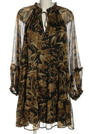 H&M Blusenkleid Allover-Druck Casual-Look