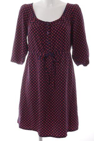 H&M Blusenkleid blau-rot Punktemuster