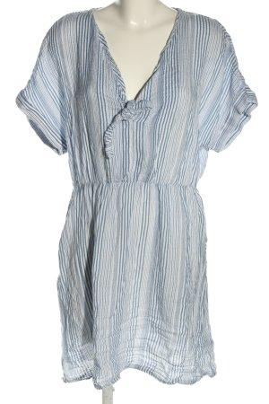 H&M Blusenkleid blau-weiß Streifenmuster Casual-Look