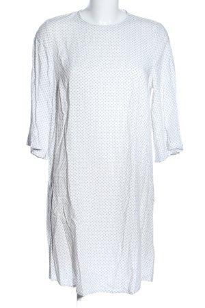 H&M Blusenkleid weiß-schwarz Allover-Druck Casual-Look