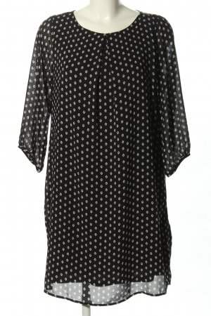 H&M Abito blusa nero-bianco stampa integrale stile casual