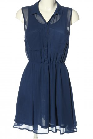 H&M Blusenkleid blau Elegant