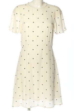 H&M Blusenkleid wollweiß-schwarz Punktemuster Casual-Look