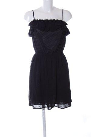 H&M Blusenkleid schwarz Punktemuster Casual-Look