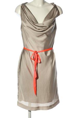 H&M Blusenkleid hellgrau-rot Elegant