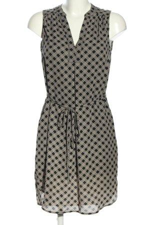 H&M Blusenkleid schwarz-hellgrau grafisches Muster Casual-Look
