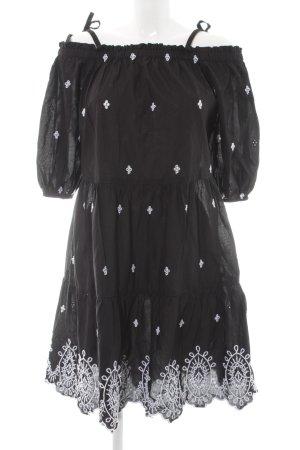 H&M Blusenkleid schwarz-weiß Casual-Look