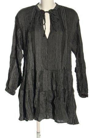 H&M Blusenkleid schwarz-weiß meliert Casual-Look