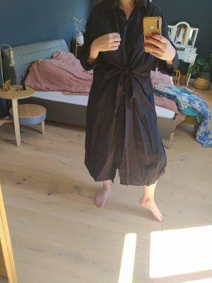 H&M Blusenkleid zum Binden Maxikleid Kleid Hemdkleid