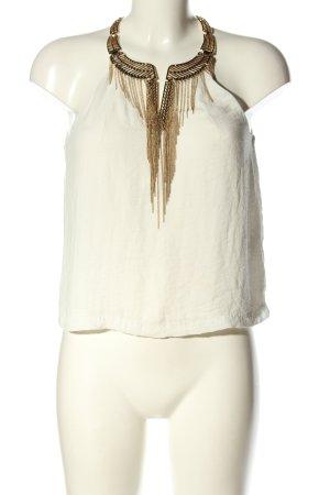 H&M Blusentop weiß-bronzefarben Casual-Look