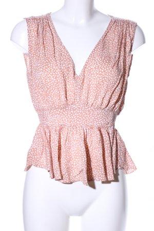 H&M Chemisier rose chair-blanc imprimé allover style décontracté