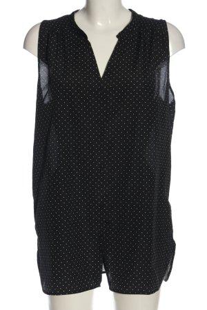 H&M Blusentop schwarz-weiß Allover-Druck Casual-Look