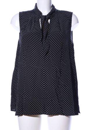 H&M Blusa nero-bianco motivo a pallini stile casual