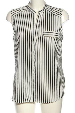 H&M Blusentop schwarz-weiß Streifenmuster Casual-Look