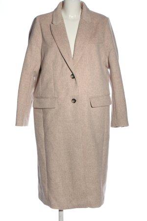H&M Długi płaszcz brązowy Melanżowy Elegancki