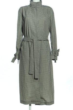 H&M bodenlanger Mantel schwarz-weiß Allover-Druck Casual-Look