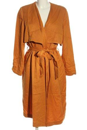 H&M Długi płaszcz jasny pomarańczowy W stylu casual