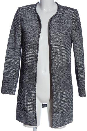 H&M Abrigo largo negro-blanco look casual