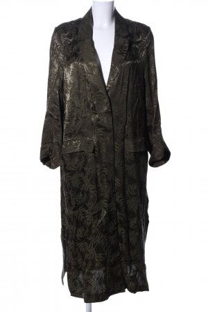 H&M Floor-Lenght Coat khaki allover print casual look