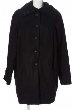 H&M Długi płaszcz czarny W stylu casual