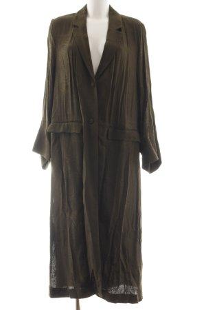 H&M Cappotto lungo fino a terra cachi stile casual