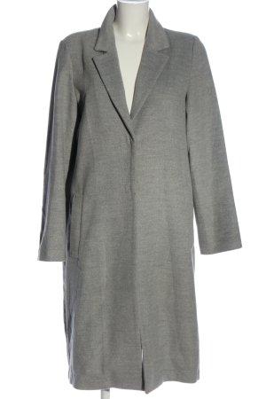 H&M Długi płaszcz jasnoszary Melanżowy W stylu biznesowym